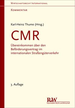 CMR – Kommentar von Thume,  Karl-Heinz
