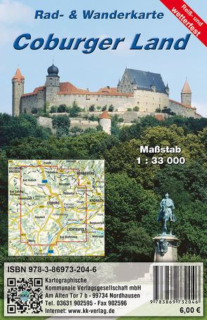 Coburger Land von Kartographische Kommunale Verlagsgesellschaft mbH
