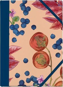 Cocktail Garten Sammelmappe – Motiv Blaubeeren von Picker,  Adriana