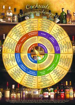 Cocktails Stimmungskompass für die Wand (DIN-A2 2017) – Welcher Cocktail soll es sein? Entscheiden Sie nach Stimmung, Anlass und Geschmack von Cremer,  Samuel, Mehner,  Thomas