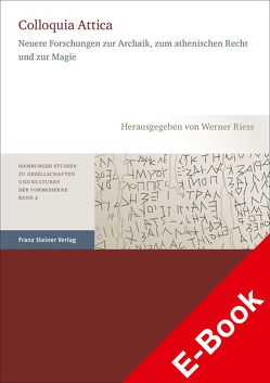 Colloquia Attica von Rieß,  Werner