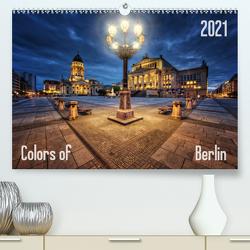 Colors of Berlin 2021 (Premium, hochwertiger DIN A2 Wandkalender 2021, Kunstdruck in Hochglanz) von Klepper,  Marcus