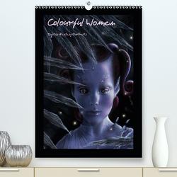 Colourful Women – Digitale Fantasy-Portraits (Premium, hochwertiger DIN A2 Wandkalender 2021, Kunstdruck in Hochglanz) von JuPasArt