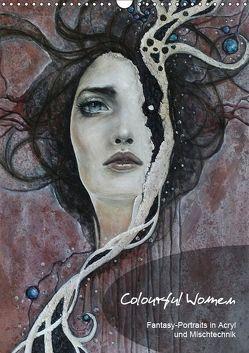 Colourful Women – Fantasy-Frauenportraits in Acryl und Mischtechnik (Wandkalender 2019 DIN A3 hoch) von JuPasArt