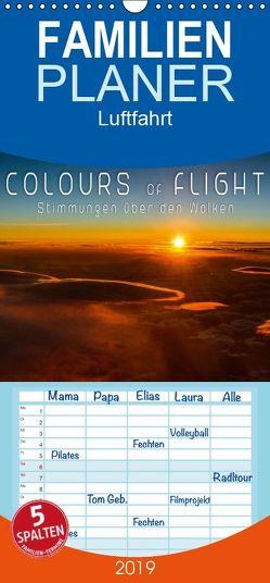 Colours of Flight – Stimmungen über den Wolken – Familienplaner hoch (Wandkalender 2019 , 21 cm x 45 cm, hoch) von Feiner,  Denis