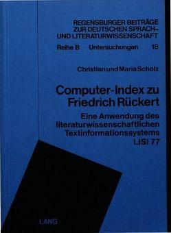 Computer-Index zu Friedrich Rückert