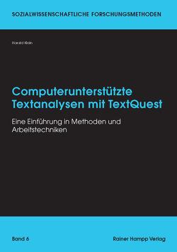 Computerunterstützte Textanalysen mit TextQuest von Klein,  Harald