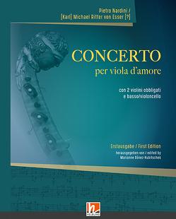 CONCERTO per viola d'amore von Pietro Nardin,  Karl, Ritter von Esser,  Michael, Ronez-Kubitschek,  Marianne