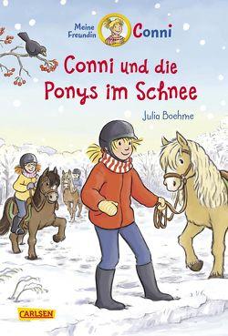 Conni-Erzählbände 34: Conni und die Ponys im Schnee von Albrecht,  Herdis, Boehme,  Julia