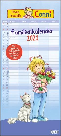 Conni Familienkalender 2021 – Wandkalender – Familienplaner mit 5 Spalten – Format 22 x 49,5 cm
