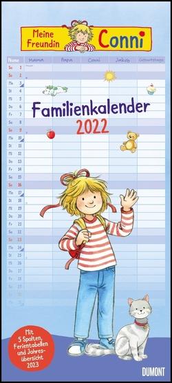 Conni Familienkalender 2022 – Wandkalender – Familienplaner mit 5 Spalten – Format 22 x 49,5 cm