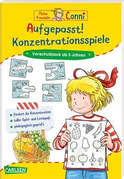Conni Gelbe Reihe: Aufgepasst! Konzentrationsspiele von Sörensen,  Hanna, Velte,  Ulrich