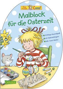 Conni Gelbe Reihe: Malblock für die Osterzeit von Sörensen,  Hanna, Velte,  Ulrich