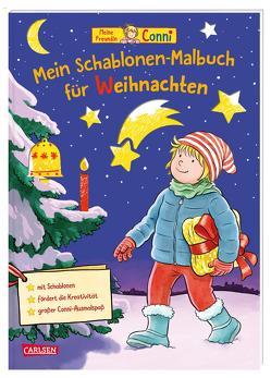 Conni Gelbe Reihe: Mein Schablonen-Malbuch für Weihnachten von Sörensen,  Hanna, Velte,  Ulrich