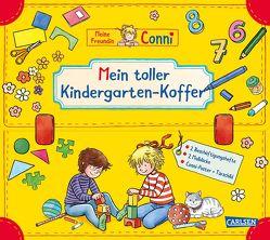 Conni Gelbe Reihe: Mein toller Kindergarten-Koffer (Buch-Set für den Kindergarten) von Görrissen,  Janina, Sörensen,  Hanna, Velte,  Uli