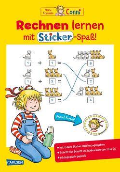 Conni Gelbe Reihe: Rechnen lernen mit Sticker-Spaß von Sörensen,  Hanna, Velte,  Uli