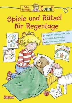 Conni Gelbe Reihe: Spiele und Rätsel für Regentage von Sörensen,  Hanna, Velte,  Ulrich