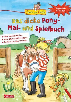 Conni und Flecki: Das dicke Pony-Mal- und Spielbuch von Sörensen,  Hanna, Velte,  Ulrich