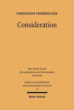 Consideration von Fromholzer,  Ferdinand