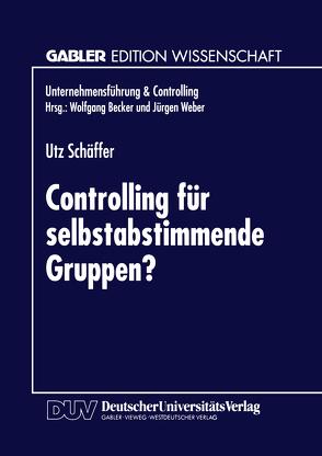 Controlling für selbstabstimmende Gruppen? von Schäffer,  Utz