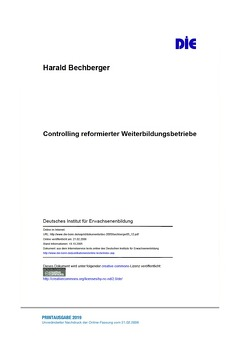 Controlling reformierter Weiterbildungsbetriebe von Bechberger,  Harald