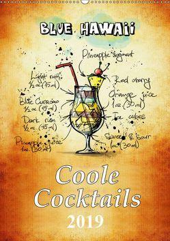 Coole Cocktails (Wandkalender 2019 DIN A2 hoch) von Roder,  Peter