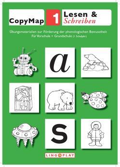 CopyMap 1: Übungsmaterialien zur Förderung der phonologischen Bewusstheit 1 von Gerwalin,  Vera, Lingoplay GmbH & Co. KG