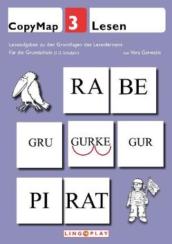 CopyMap 3: Leseaufgaben zu den Grundlagen des Lesenlernens von Gerwalin,  Vera, Lingoplay GmbH & Co. KG
