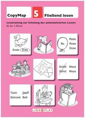 CopyMap 5: Fließend Lesen. Lesetraining zur Schulung des automatisierten Lesens von Gerwalin,  Vera, Lingoplay GmbH & Co. KG