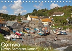 Cornwall – Devon Somerset Dorset (Tischkalender 2018 DIN A5 quer) von www.MatthiasHanke.de