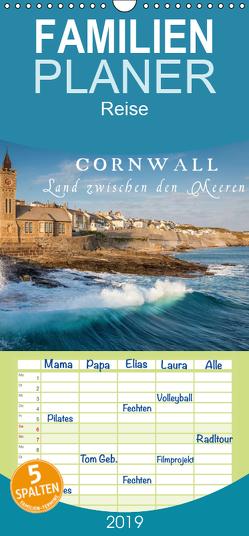 Cornwall – Land zwischen den Meeren – Familienplaner hoch (Wandkalender 2019 , 21 cm x 45 cm, hoch) von Mueringer,  Christian