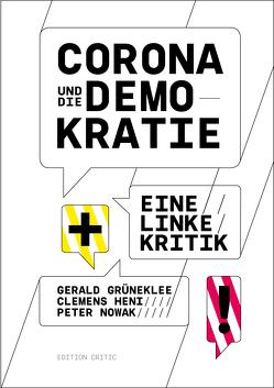 Corona und die Demokratie von Grüneklee,  Gerald, Heni,  Clemens, Niazi-Shahabi,  Rebecca, Nowak,  Peter