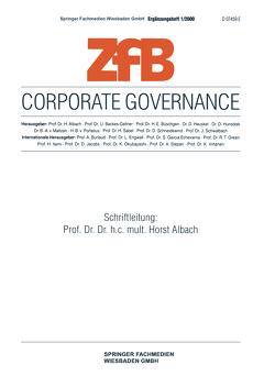 Corporate Governance von Albach,  Horst