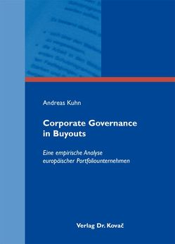 Corporate Governance in Buyouts von Kuhn,  Andreas