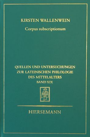 Corpus subscriptionum von Wallenwein,  Kirsten