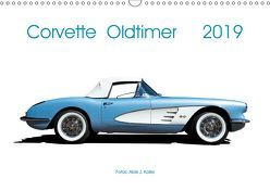 Corvette Oldtimer 2019 (Wandkalender 2019 DIN A3 quer) von J. Koller,  Alois