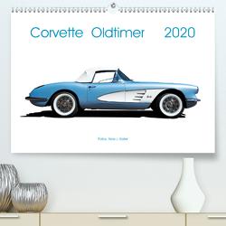 Corvette Oldtimer 2020 (Premium, hochwertiger DIN A2 Wandkalender 2020, Kunstdruck in Hochglanz) von J. Koller,  Alois