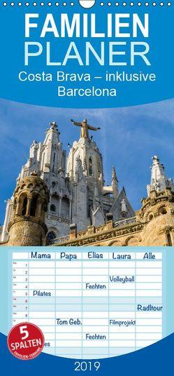 Costa Brava – inklusive Barcelona – Familienplaner hoch (Wandkalender 2019 , 21 cm x 45 cm, hoch) von Caccia,  Enrico