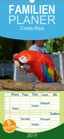 Costa Rica – Familienplaner hoch (Wandkalender 2019 , 21 cm x 45 cm, hoch) von M.Polok