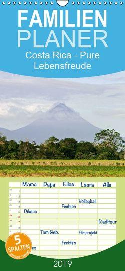 Costa Rica – Pure Lebensfreude – Familienplaner hoch (Wandkalender 2019 , 21 cm x 45 cm, hoch) von boeTtchEr,  U