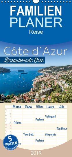 CÔTE D'AZUR Bezaubernde Orte – Familienplaner hoch (Wandkalender 2019 , 21 cm x 45 cm, hoch) von Viola,  Melanie