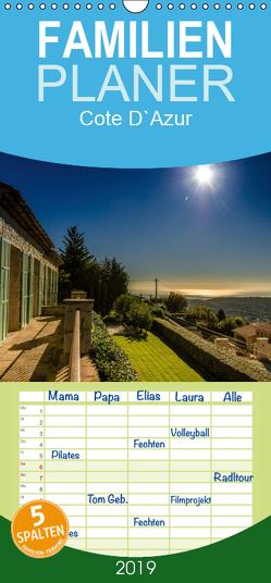 Cote D`Azur – Familienplaner hoch (Wandkalender 2019 , 21 cm x 45 cm, hoch) von strandmann@online.de