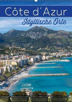 CÔTE D'AZUR Idyllische Orte (Wandkalender 2019 DIN A2 hoch) von Viola,  Melanie