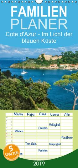 Cote d'Azur – Im Licht der blauen Küste – Familienplaner hoch (Wandkalender 2019 , 21 cm x 45 cm, hoch) von Mueringer,  Christian