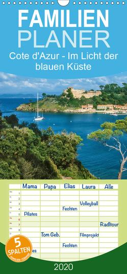 Cote d'Azur – Im Licht der blauen Küste – Familienplaner hoch (Wandkalender 2020 , 21 cm x 45 cm, hoch) von Mueringer,  Christian