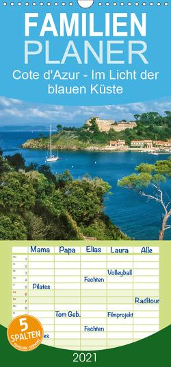 Cote d'Azur – Im Licht der blauen Küste – Familienplaner hoch (Wandkalender 2021 , 21 cm x 45 cm, hoch) von Mueringer,  Christian