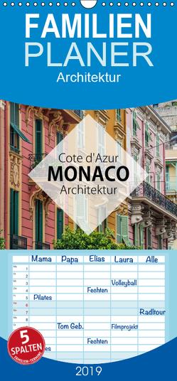 Côte d'Azur Monaco Architektur – Familienplaner hoch (Wandkalender 2019 , 21 cm x 45 cm, hoch) von Korte,  Niko