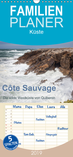 Côte Sauvage – Die wilde Westküste von Quiberon – Familienplaner hoch (Wandkalender 2019 , 21 cm x 45 cm, hoch) von Benoît,  Etienne