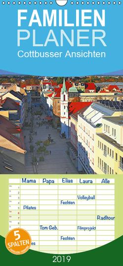 Cottbusser Ansichten – Familienplaner hoch (Wandkalender 2019 , 21 cm x 45 cm, hoch) von Witkowski,  Bernd