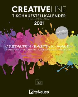 Creative Line Tischaufsteller hoch 2021 – Kreativ-Kalender – DIY-Kalender – Kalender-zum-basteln – Tischkalender – 16×20
